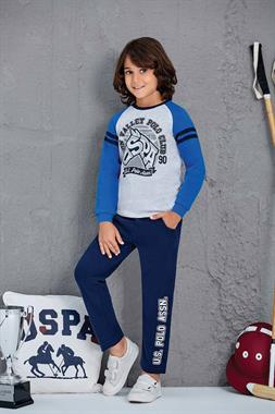 U.S. Polo Assn US Polo Assn Male Child 2 Licensed-Team Grey