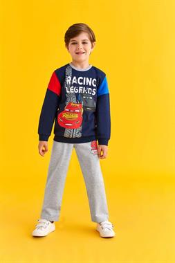 Cars Licensed Navy Blue Sweat Suit Boy