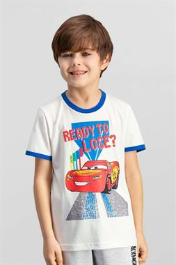Cars Boy Licensed Cream T-Shirt