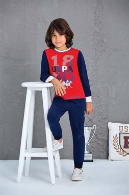 U.S. Polo Assn US Polo Assn Boy Pajamas Licensed-Team Red