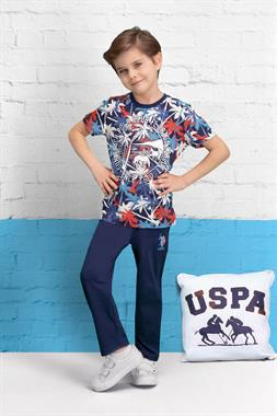 U.S. Polo Assn Licensed Boy Pyjamas Navy Blue Team