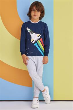 RolyPoly Apollo Rocket Boy Pajamas Navy Blue Team