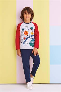 RolyPoly Astronomically Awesome Boy's Pajamas-Red Team