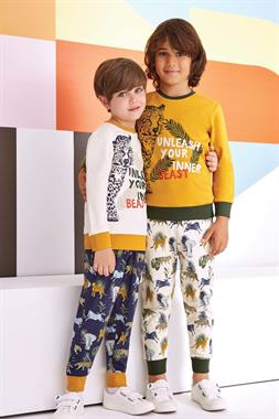 RolyPoly Unleash Your Inner Tiger Boy Pajamas-Yellow Team