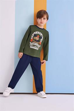 RolyPoly Age A Pajama Outfit With Our Boy's Green Throwing Axe
