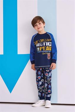 RolyPoly The Boy Pajamas Navy Blue Team Arctic Peak