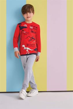 RolyPoly Boy Pajamas Dinosaurs-Team Red