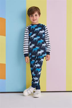 RolyPoly Male Deer Children's Pajamas Navy Blue Team