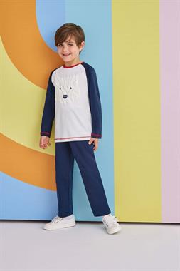 RolyPoly Boy Bear Pajamas Navy Blue Team Cubic