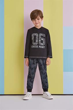 RolyPoly 06 Camouflage Boy Sweat Suit Black