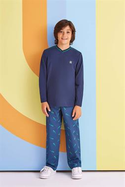 RolyPoly Parrot Boy Pajamas Navy Blue Team