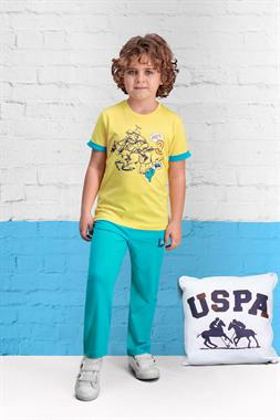 U.S. Polo Assn Licensed Team Yellow Boy Pajamas