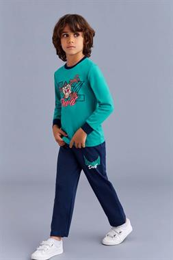 Tazmania Licensed A Pajama Outfit Boy Yesil