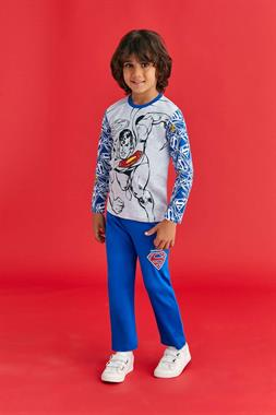 Superman A Pajama Outfit Boy Licensed Light Grey