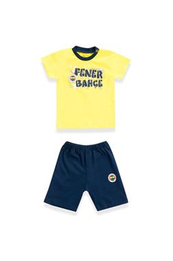 Fenerbahçe Baby Boy Licensed T-Shirt Shorts 2-Yellow Team