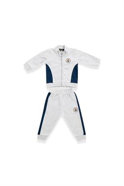 Fenerbahçe Licensed Baby Sweat Suit Grey Melange
