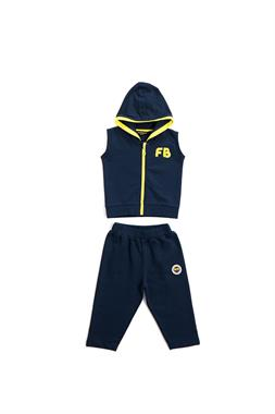 Fenerbahçe Licensed Navy Blue Sweat Suit Baby Vest
