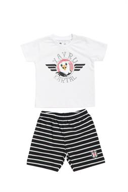 Beşiktaş Licensed Infant T-Shirt Shorts 2-White Team