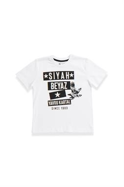 Beşiktaş Licensed Children's Short Sleeve T-Shirt White