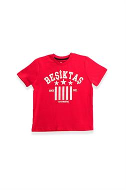 Beşiktaş Licensed Children's Short Sleeve T-Shirt Red