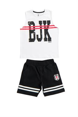 Beşiktaş Licensed Child Athlete Shorts 2-White Team