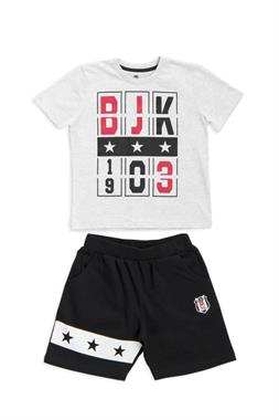 Beşiktaş Licensed Children's T-Shirt Shorts 2-Team Karmelanj