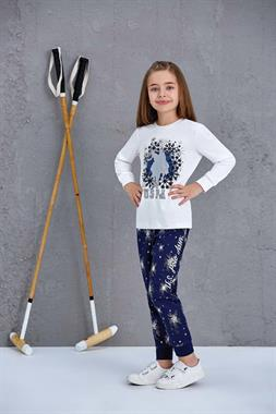 U.S. Polo Assn Girl In A Pajama Outfit US Polo Assn Cream Licensed