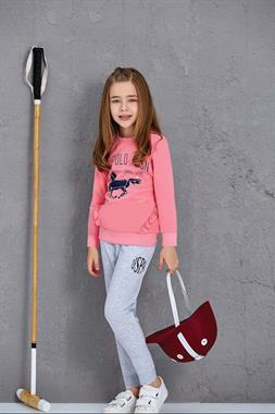 U.S. Polo Assn US Polo Assn Girl's Pink Pajama Outfit Licensed