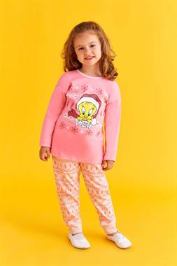 Tweety A Pajama Outfit Pink Girl Licensed