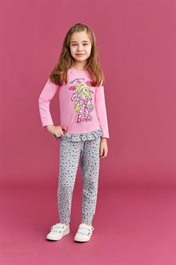 Barbie Girl's Light Pink Pajama Outfit Licensed