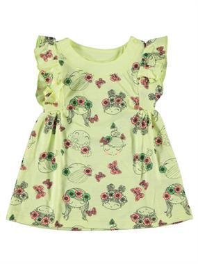 Kujju Cheerful Yellow Sperm Girls Girl Dress Baby Girl 6-18 Months