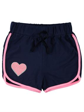 Civil Girls Embroidered Navy Blue Shorts Girl With The Heart Of A Child Age 6-9
