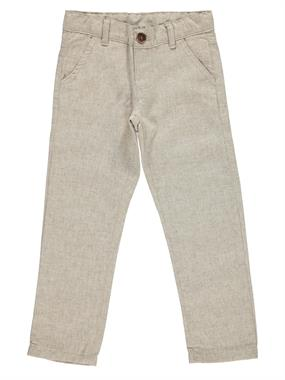 Civil Boys Classic Beige Linen Trousers Age 6-9 Boy