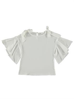 Civil Girls Ecru Shirt Bowtie Boy Girl Age 6-9