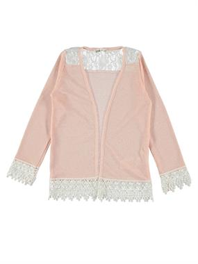 Civil Girls Salmon Lace Cardigan Age 6-9 Girl