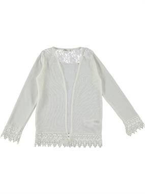 Civil Girls Ecru Lace Cardigan Age 6-9 Girl