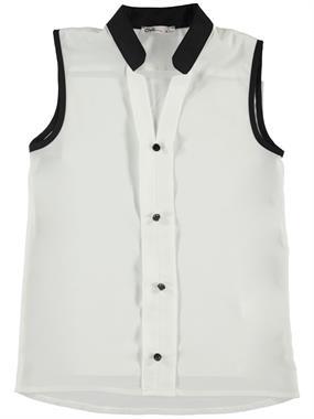 Civil Girls Buttoned My Collar Ecru Shirt Boy Girl Girl Age 10-13 Pancakes On Civil