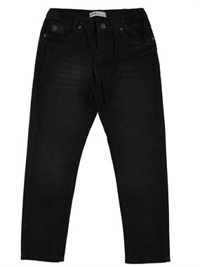 Civil Boys Black Crested Leather Pants Boy Age 10-13