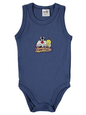 TWEETY Boy 3-24 Months Superman Bodysuit With Snaps Smoked