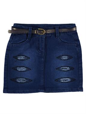 Civil Girls Girl Age 6-9 Blue Denim Skirt Saks