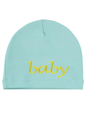 Albimama Turquoise Embroidered Baby Beanie Baby Age 0-2