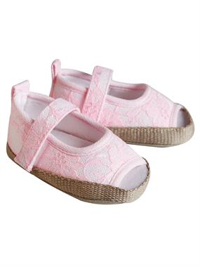 First Step Baby Girl Pink Booties 16-18 Number