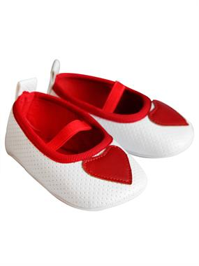 First Step Baby Girl Booties 17-19 # Red