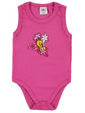 TWEETY Tweety Baby Girl 3-24 Months Fuchsia Bodysuit With Snaps