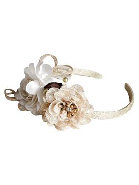 Albimama Baby Girl Crown Accessories Beige