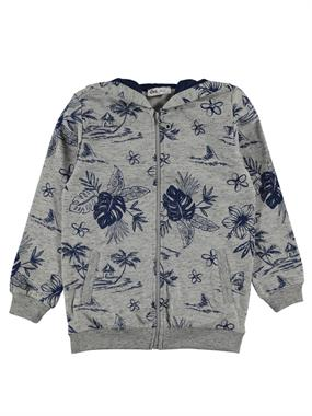 Cvl Girls Gray Hooded Cardigan Age 6-9