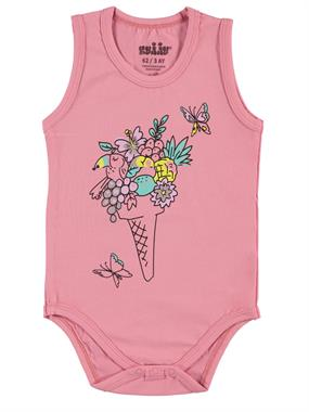 Kujju Light Tan Baby Girl 3-9 Months Bodysuit With Snaps