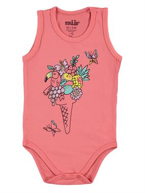 Kujju Baby Girl Bodysuit With Snaps Tongue In Cheek, 3-9 Months