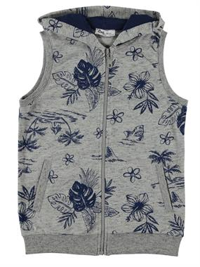 Cvl Age 6-9 Boy Hooded Vest Gray