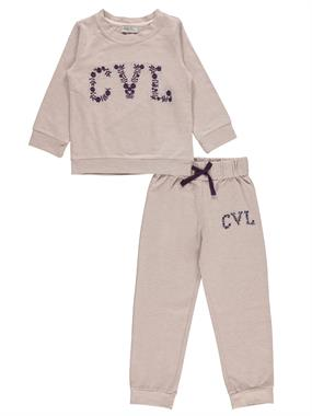 Cvl Purple Sweat Suit Boy Girl 2-5 Years